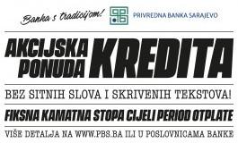 Akcijska ponuda kredita Privredne banke Sarajevo